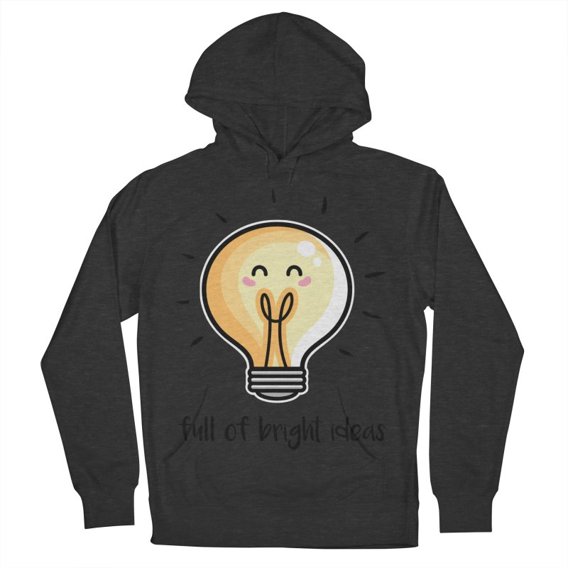 Kawaii Cute Lightbulb Of Bright Ideas Women's French Terry Pullover Hoody by Flaming Imp's Artist Shop