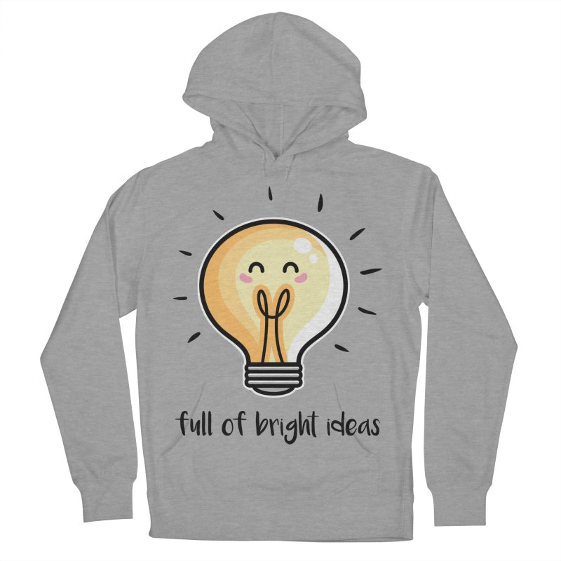 Kawaii Cute Lightbulb Of Bright Ideas Men's French Terry Pullover Hoody by Flaming Imp's Artist Shop