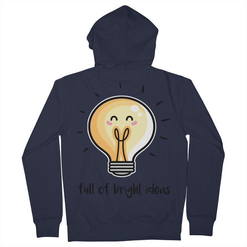 Kawaii Cute Lightbulb Of Bright Ideas Men's French Terry Zip-Up Hoody by Flaming Imp's Artist Shop