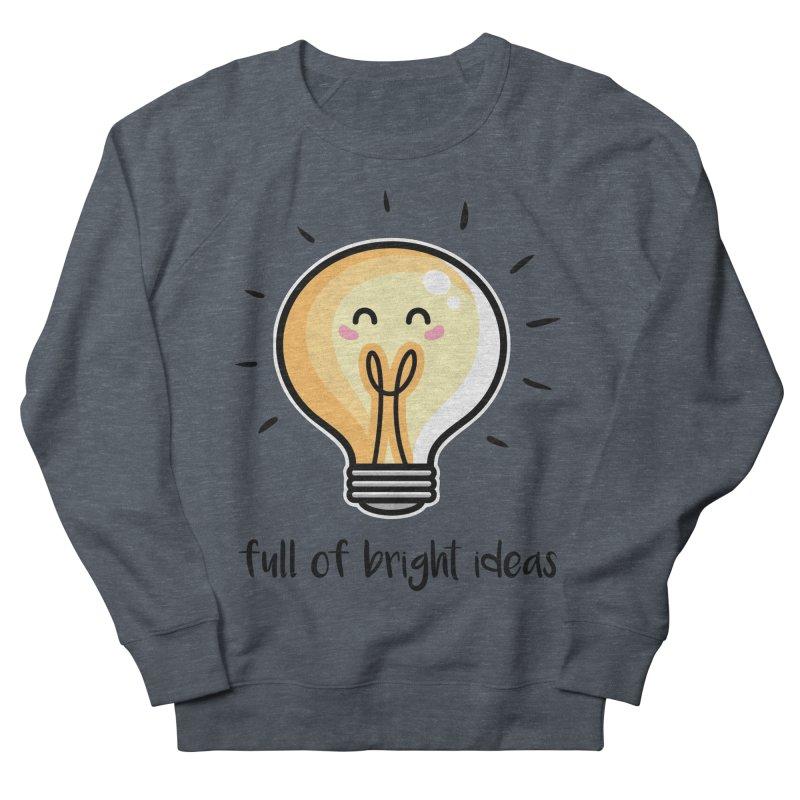 Kawaii Cute Lightbulb Of Bright Ideas Women's French Terry Sweatshirt by Flaming Imp's Artist Shop