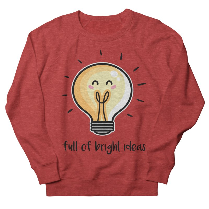 Kawaii Cute Lightbulb Of Bright Ideas Men's French Terry Sweatshirt by Flaming Imp's Artist Shop