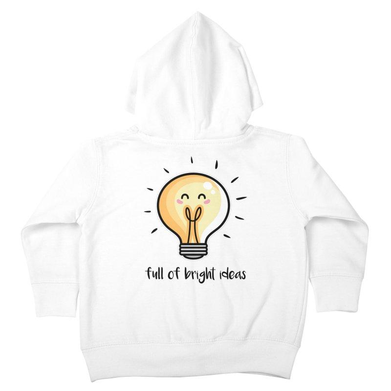 Kawaii Cute Lightbulb Of Bright Ideas Kids Toddler Zip-Up Hoody by Flaming Imp's Artist Shop