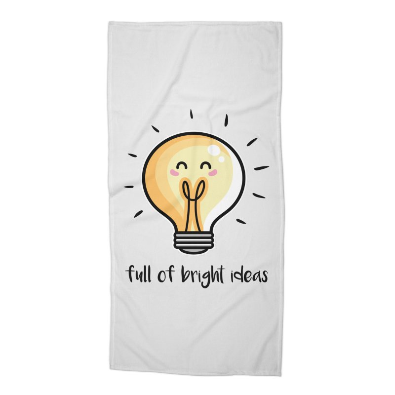 Kawaii Cute Lightbulb Of Bright Ideas Accessories Beach Towel by Flaming Imp's Artist Shop