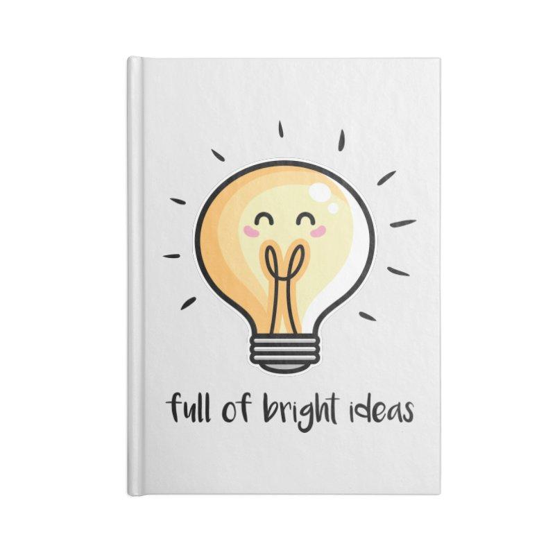 Kawaii Cute Lightbulb Of Bright Ideas Accessories Blank Journal Notebook by Flaming Imp's Artist Shop