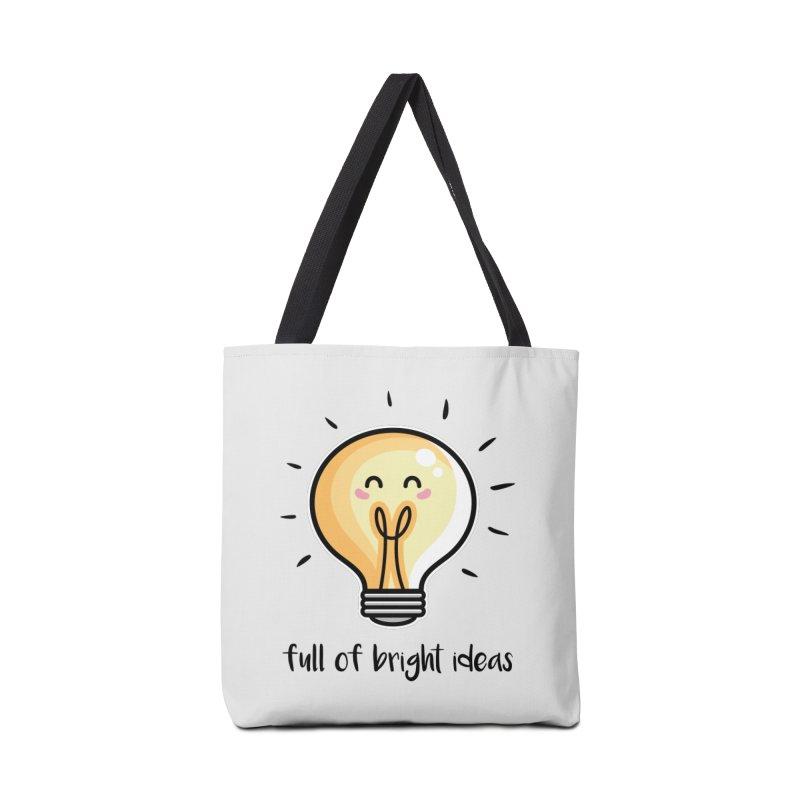 Kawaii Cute Lightbulb Of Bright Ideas Accessories Tote Bag Bag by Flaming Imp's Artist Shop