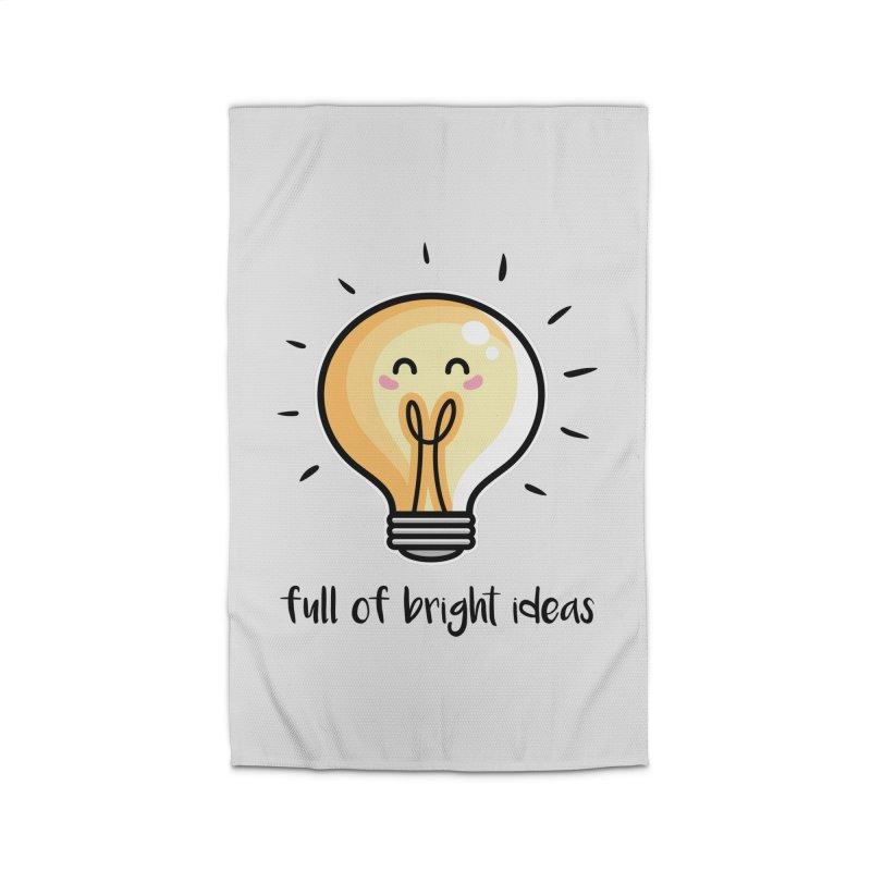 Kawaii Cute Lightbulb Of Bright Ideas Home Rug by Flaming Imp's Artist Shop