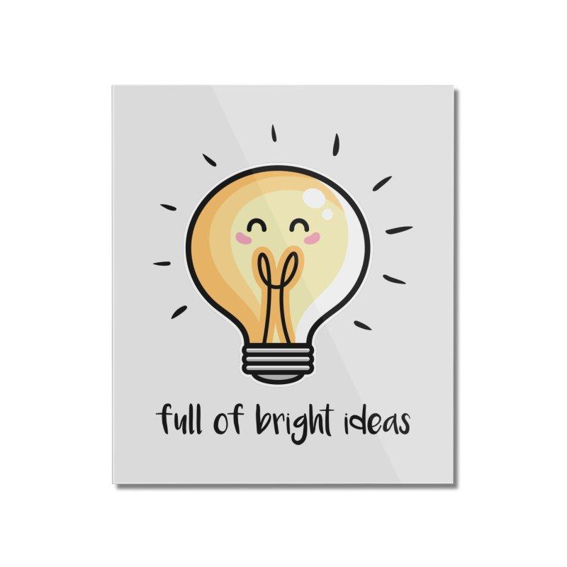 Kawaii Cute Lightbulb Of Bright Ideas Home Mounted Acrylic Print by Flaming Imp's Artist Shop