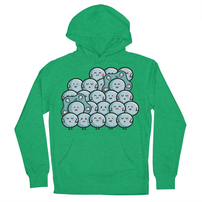 Kawaii Cute Peachicks Group Men's French Terry Pullover Hoody by Flaming Imp's Artist Shop