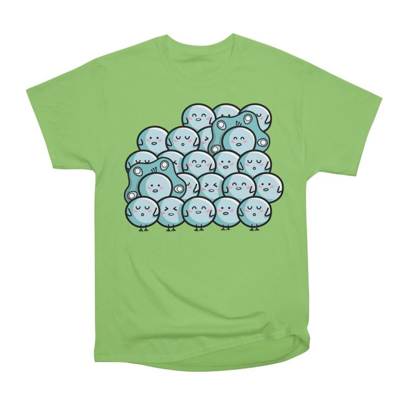 Kawaii Cute Peachicks Group Men's Heavyweight T-Shirt by Flaming Imp's Artist Shop