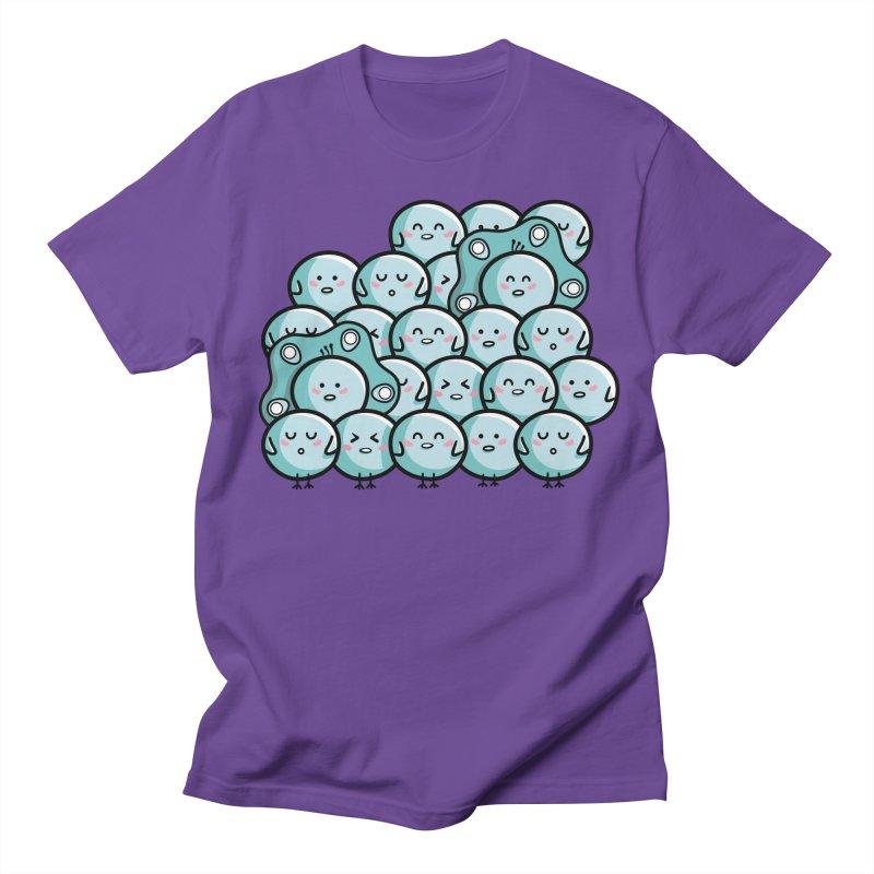 Kawaii Cute Peachicks Group Men's Regular T-Shirt by Flaming Imp's Artist Shop