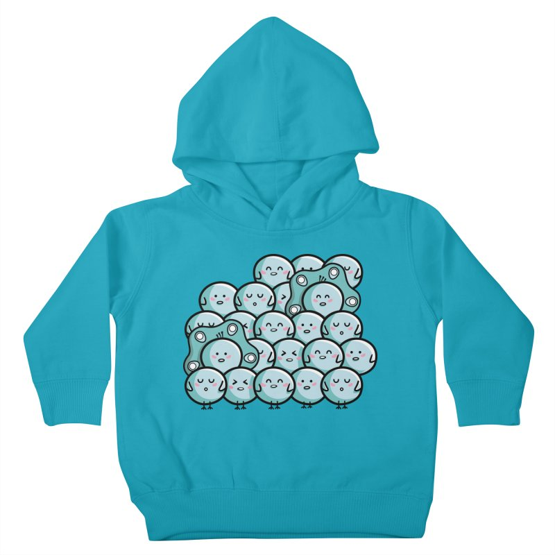 Kawaii Cute Peachicks Group Kids Toddler Pullover Hoody by Flaming Imp's Artist Shop