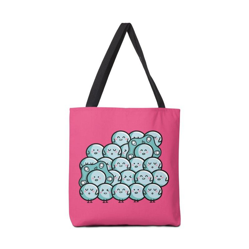 Kawaii Cute Peachicks Group Accessories Tote Bag Bag by Flaming Imp's Artist Shop