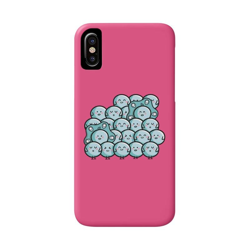Kawaii Cute Peachicks Group Accessories Phone Case by Flaming Imp's Artist Shop