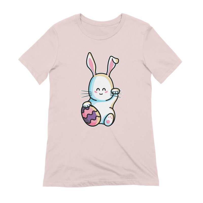 Lucky Rabbit Easter Bunny Women's Extra Soft T-Shirt by Flaming Imp's Artist Shop