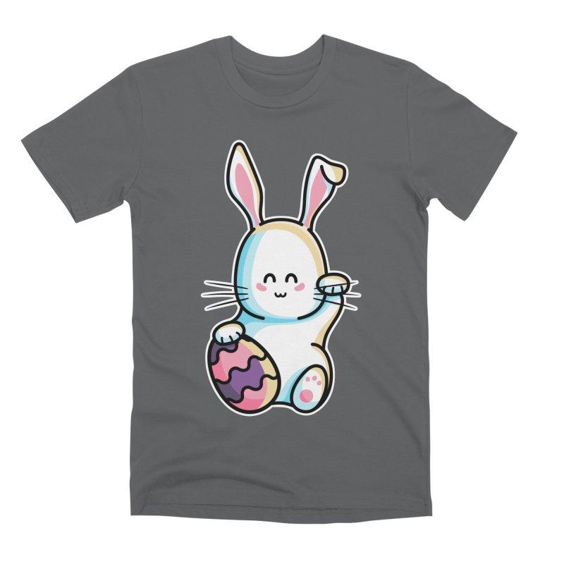 Lucky Rabbit Easter Bunny Men's Premium T-Shirt by Flaming Imp's Artist Shop