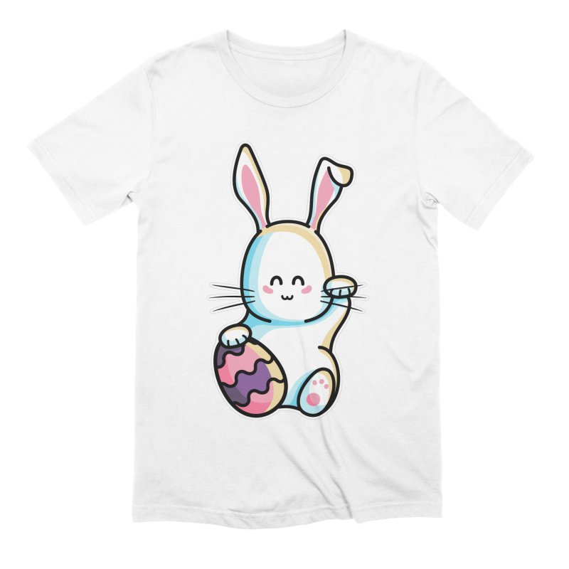 Lucky Rabbit Easter Bunny Men's Extra Soft T-Shirt by Flaming Imp's Artist Shop
