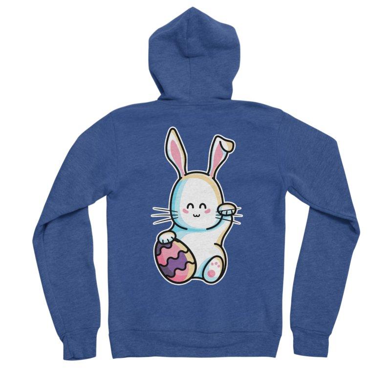 Lucky Rabbit Easter Bunny Women's Sponge Fleece Zip-Up Hoody by Flaming Imp's Artist Shop