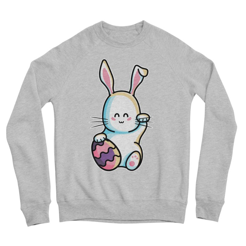 Lucky Rabbit Easter Bunny Women's Sponge Fleece Sweatshirt by Flaming Imp's Artist Shop
