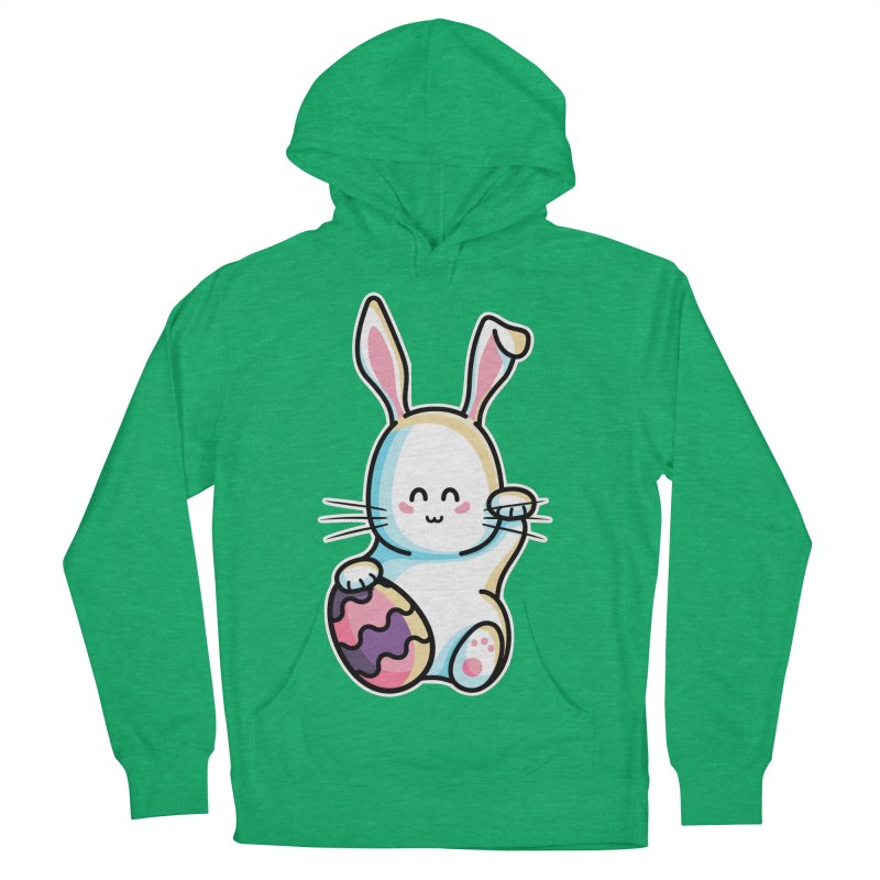 Lucky Rabbit Easter Bunny Women's French Terry Pullover Hoody by Flaming Imp's Artist Shop