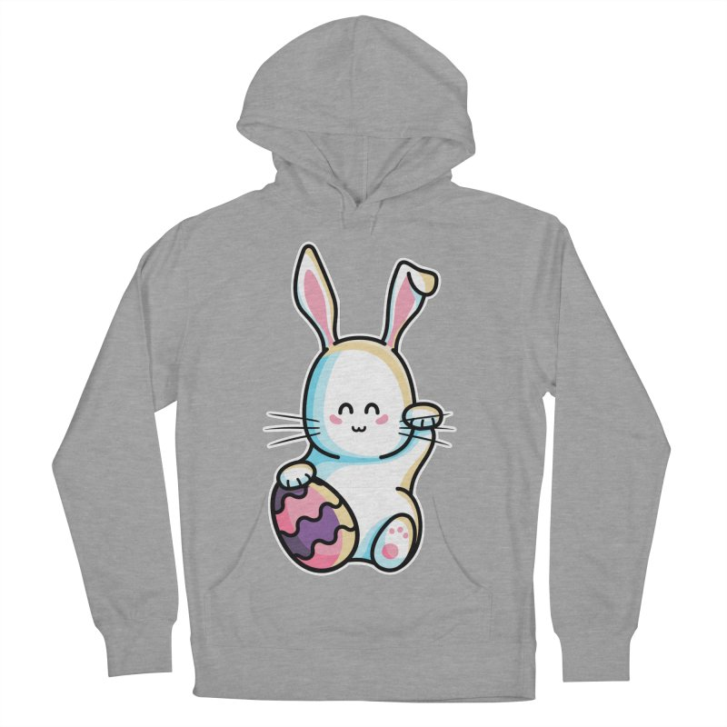 Lucky Rabbit Easter Bunny Men's French Terry Pullover Hoody by Flaming Imp's Artist Shop