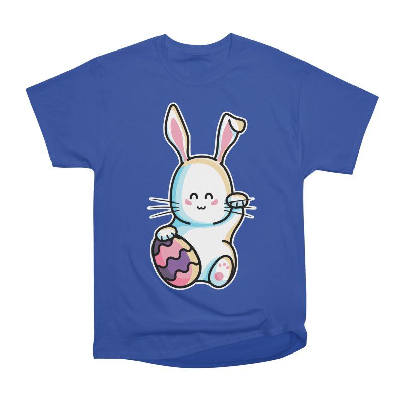 Lucky Rabbit Easter Bunny Women's Heavyweight Unisex T-Shirt by Flaming Imp's Artist Shop