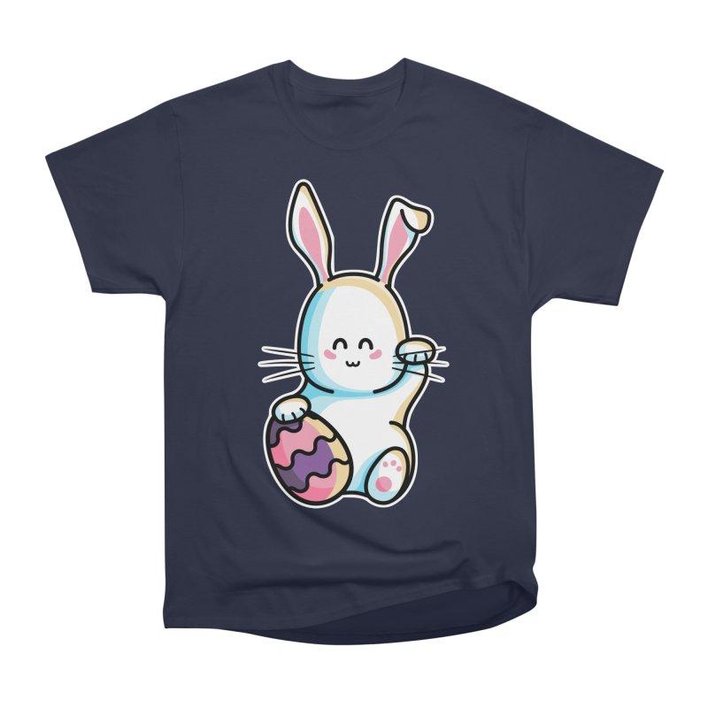 Lucky Rabbit Easter Bunny Men's Heavyweight T-Shirt by Flaming Imp's Artist Shop