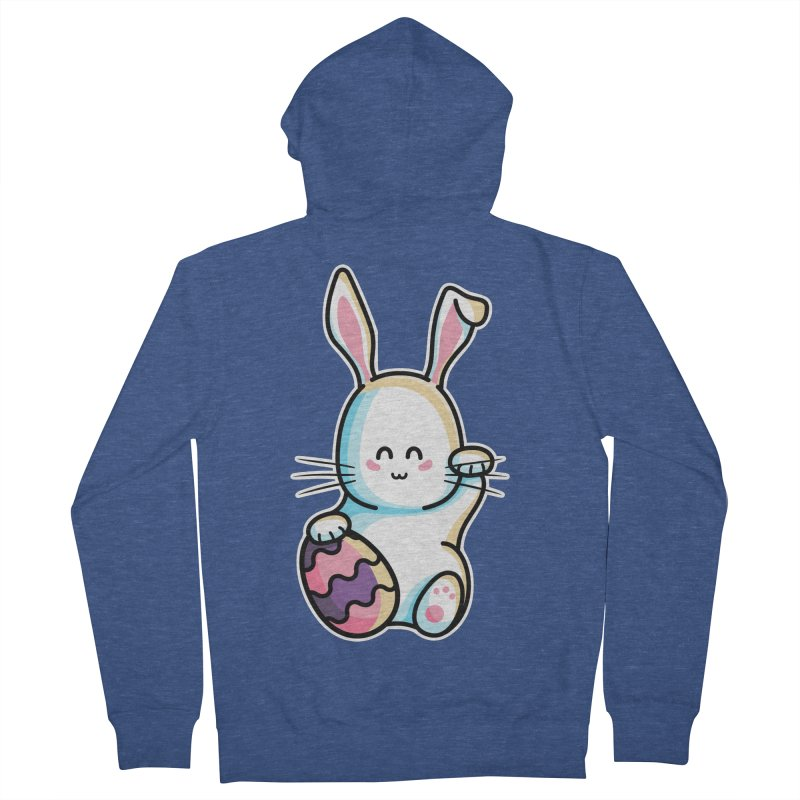 Lucky Rabbit Easter Bunny Men's French Terry Zip-Up Hoody by Flaming Imp's Artist Shop