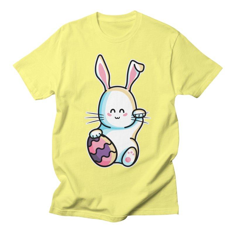 Lucky Rabbit Easter Bunny Men's Regular T-Shirt by Flaming Imp's Artist Shop