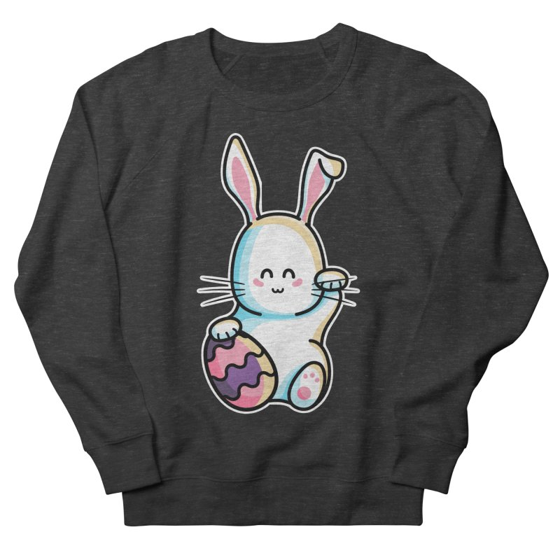 Lucky Rabbit Easter Bunny Women's French Terry Sweatshirt by Flaming Imp's Artist Shop