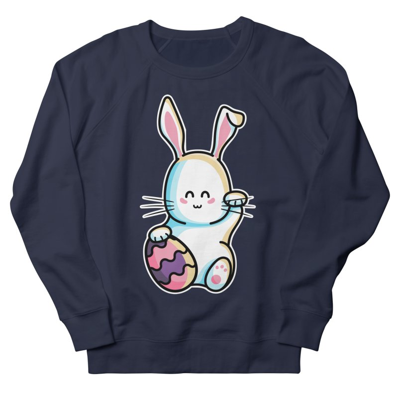 Lucky Rabbit Easter Bunny Men's French Terry Sweatshirt by Flaming Imp's Artist Shop