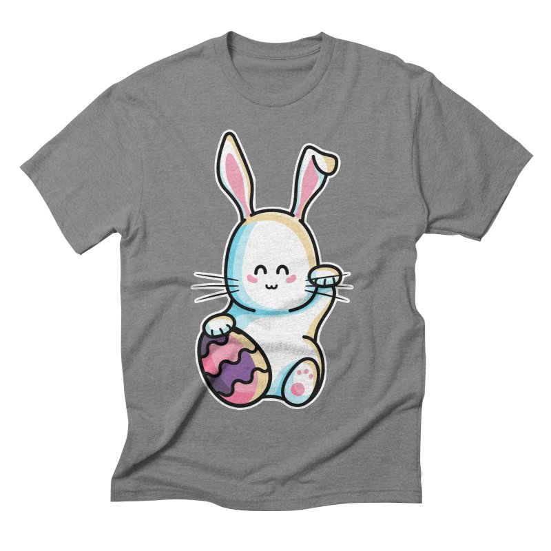 Lucky Rabbit Easter Bunny Men's Triblend T-Shirt by Flaming Imp's Artist Shop