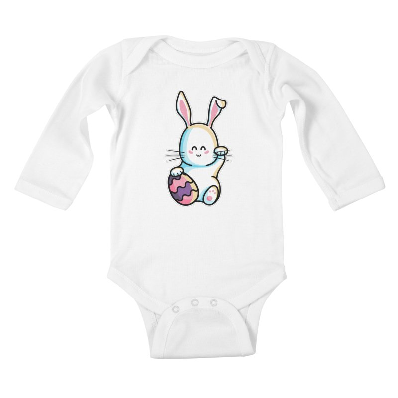 Lucky Rabbit Easter Bunny Kids Baby Longsleeve Bodysuit by Flaming Imp's Artist Shop