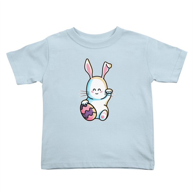 Lucky Rabbit Easter Bunny Kids Toddler T-Shirt by Flaming Imp's Artist Shop