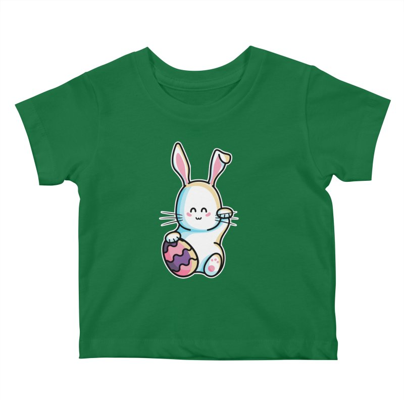 Lucky Rabbit Easter Bunny Kids Baby T-Shirt by Flaming Imp's Artist Shop