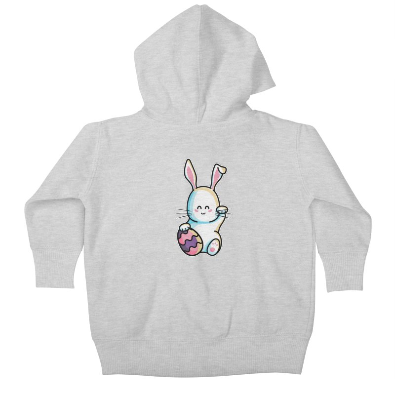 Lucky Rabbit Easter Bunny Kids Baby Zip-Up Hoody by Flaming Imp's Artist Shop
