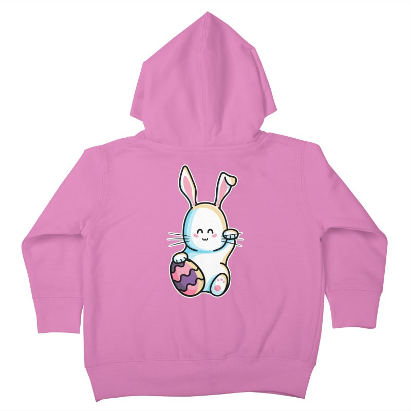 Lucky Rabbit Easter Bunny Kids Toddler Zip-Up Hoody by Flaming Imp's Artist Shop