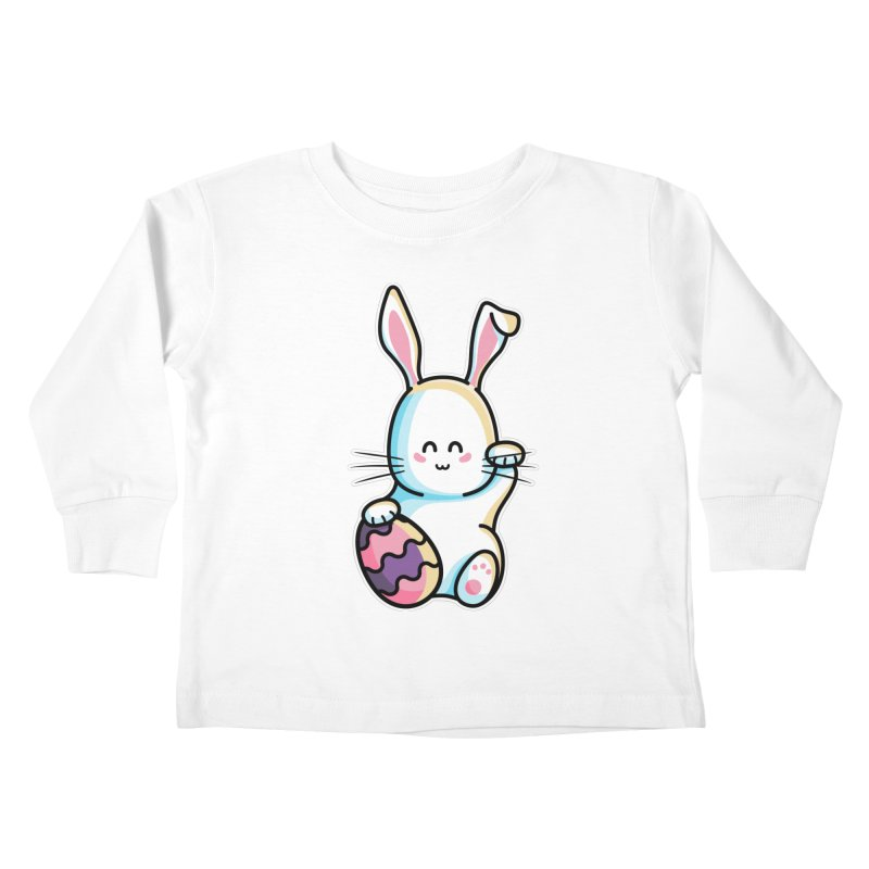 Lucky Rabbit Easter Bunny Kids Toddler Longsleeve T-Shirt by Flaming Imp's Artist Shop