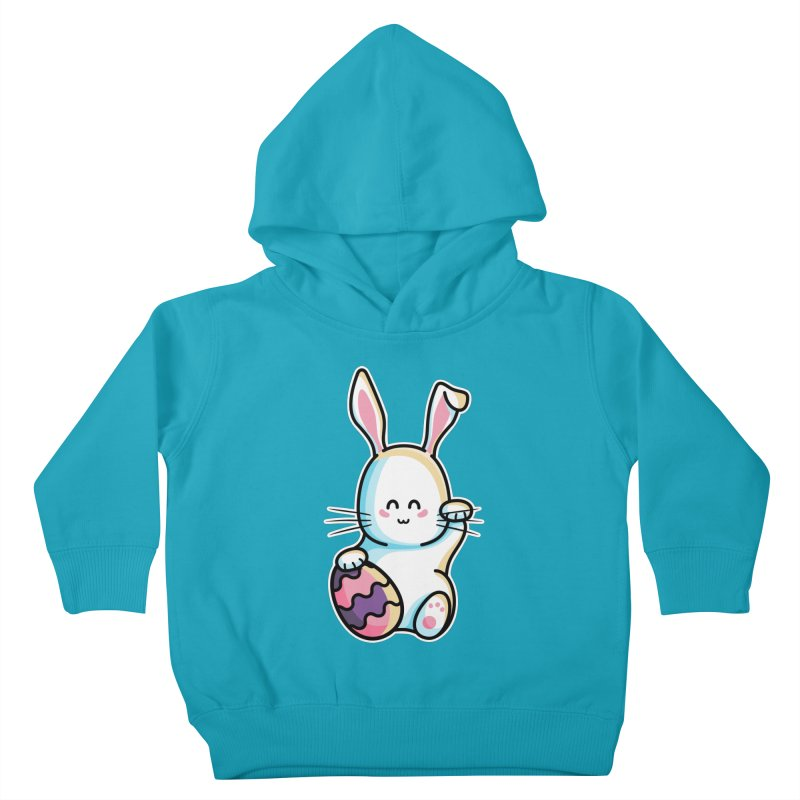 Lucky Rabbit Easter Bunny Kids Toddler Pullover Hoody by Flaming Imp's Artist Shop