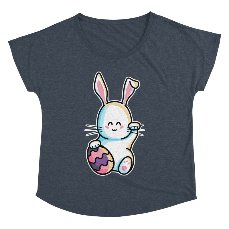 Lucky Rabbit Easter Bunny Women's Dolman Scoop Neck by Flaming Imp's Artist Shop