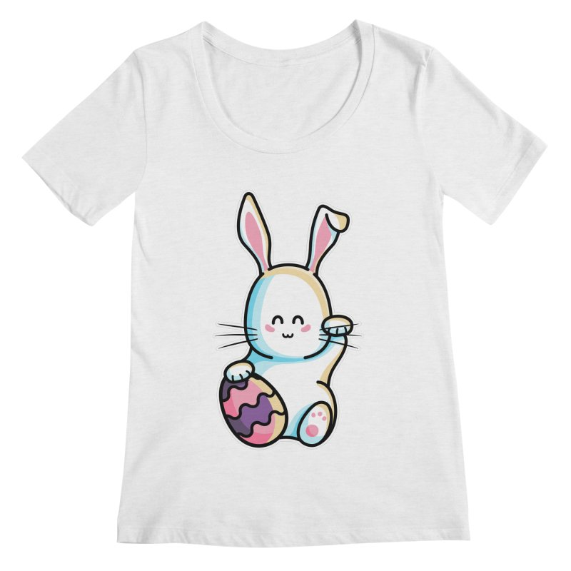 Lucky Rabbit Easter Bunny Women's Regular Scoop Neck by Flaming Imp's Artist Shop
