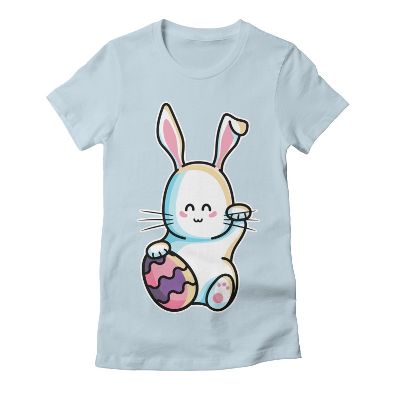 Lucky Rabbit Easter Bunny Women's Fitted T-Shirt by Flaming Imp's Artist Shop