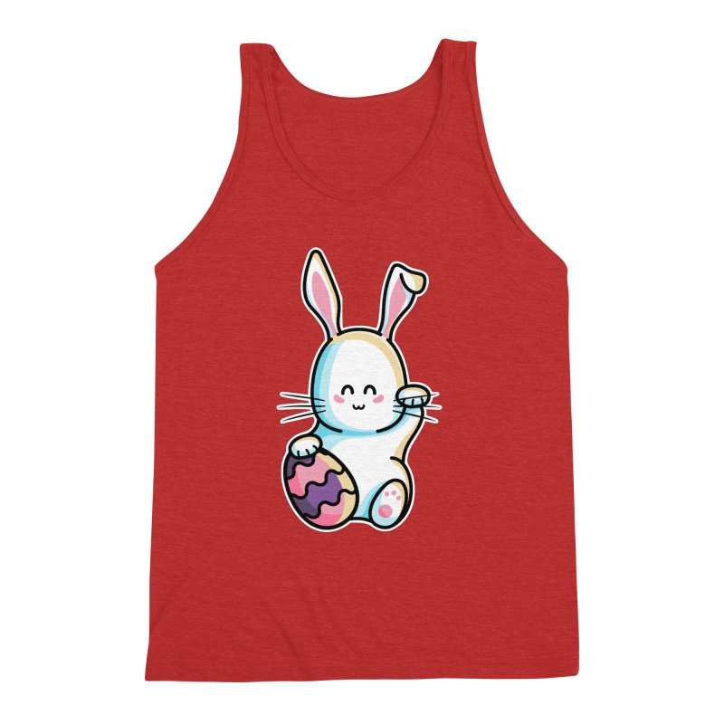 Lucky Rabbit Easter Bunny Men's Triblend Tank by Flaming Imp's Artist Shop