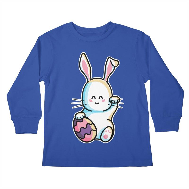 Lucky Rabbit Easter Bunny Kids Longsleeve T-Shirt by Flaming Imp's Artist Shop