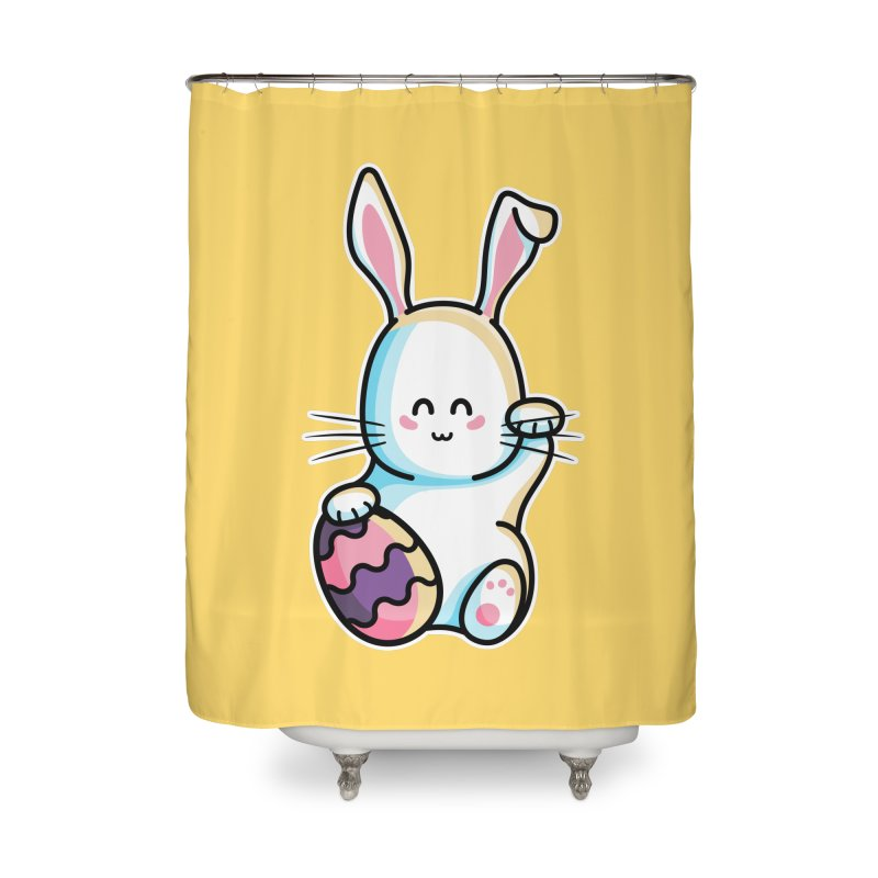 Lucky Rabbit Easter Bunny Home Shower Curtain by Flaming Imp's Artist Shop