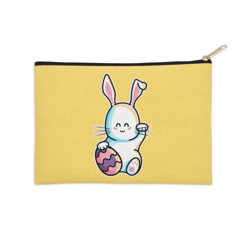 Lucky Rabbit Easter Bunny Accessories Zip Pouch by Flaming Imp's Artist Shop
