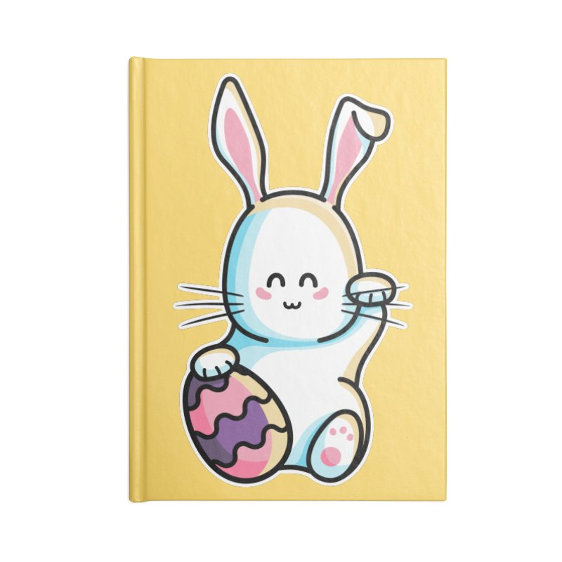 Lucky Rabbit Easter Bunny Accessories Blank Journal Notebook by Flaming Imp's Artist Shop