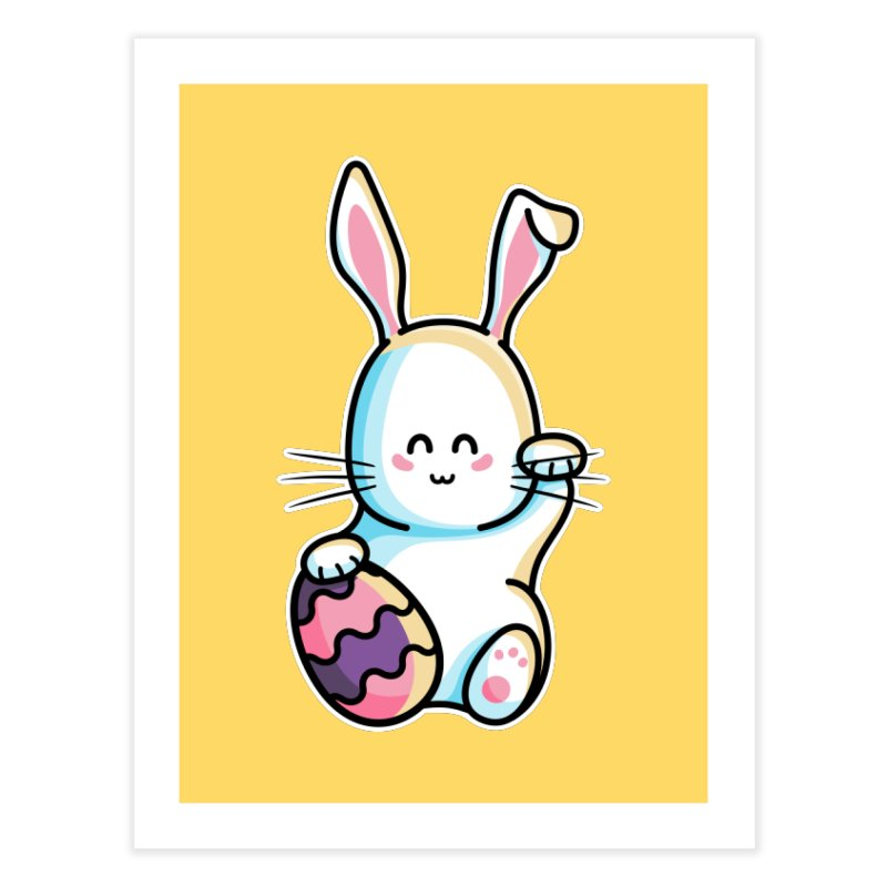 Lucky Rabbit Easter Bunny Home Fine Art Print by Flaming Imp's Artist Shop