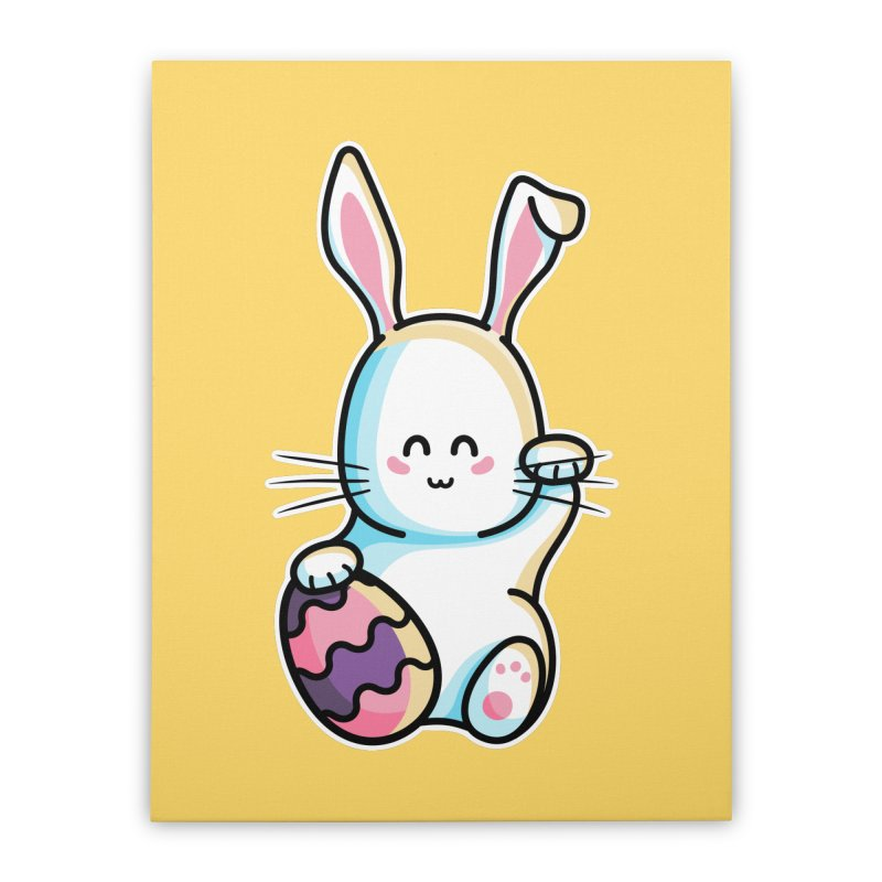 Lucky Rabbit Easter Bunny Home Stretched Canvas by Flaming Imp's Artist Shop