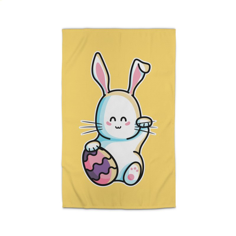 Lucky Rabbit Easter Bunny Home Rug by Flaming Imp's Artist Shop