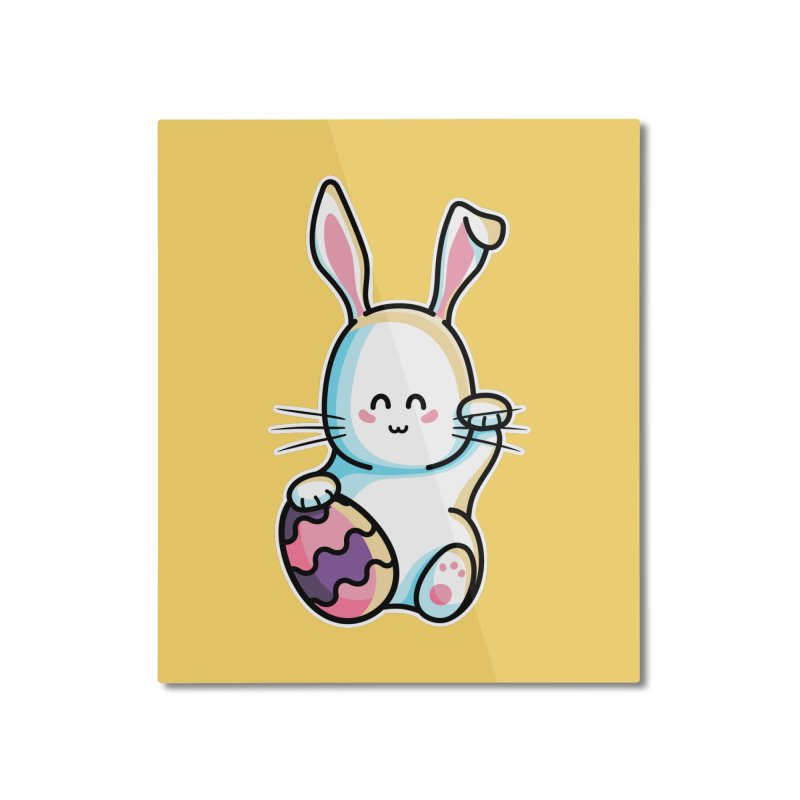 Lucky Rabbit Easter Bunny Home Mounted Aluminum Print by Flaming Imp's Artist Shop